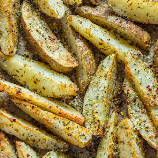 Crispy Baked Garlic Parmesan Potato Wedges.