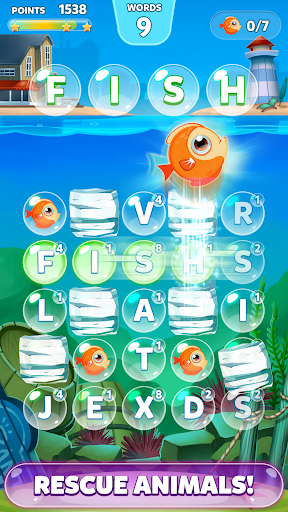 Bubble Words Game - Search and Connect the Letters Screenshot