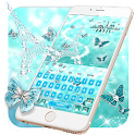 Turquoise Diamond Paris Butterfly Keyboard icon