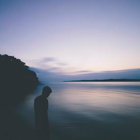Whisper by Chris Timmerman - Uncategorized All Uncategorized ( sunset, silhouette, long shutter, summer, lake, landscapes, people, slow shutter, river,  )