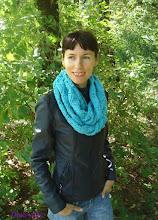 Photo: женский вязаный шарф-снуд хомут Бирюза