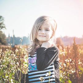 Fall sun by Jenny Hammer - Babies & Children Children Candids ( pretty, fall, pumpkin patch, girl, sun, child )