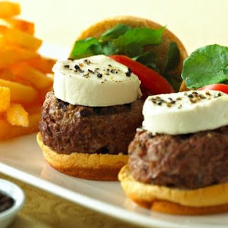 Peppered Goat Cheese Log Sliders