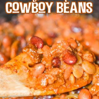 Easy Crock Pot Cowboy Beans.
