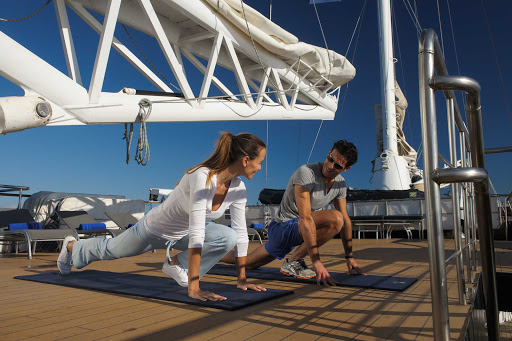 Change up your fitness routine during a sailing on Ponant's Le Ponant.