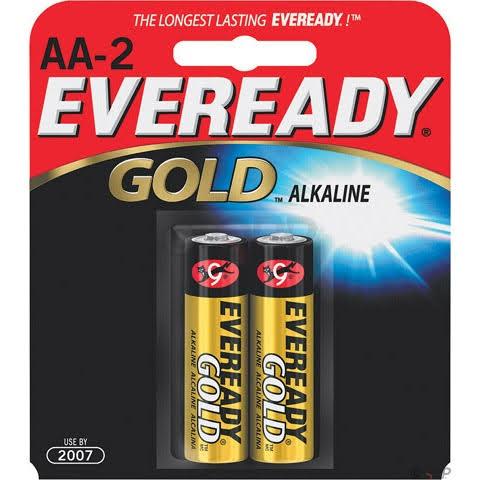 Eveready Gold AA Alkaline Batteries 2-pack