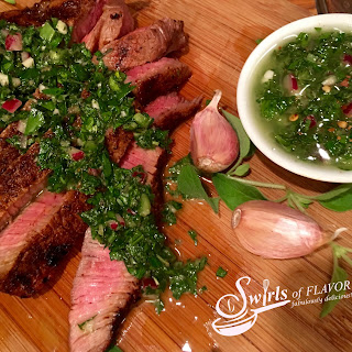 Spice-Rubbed Sirloin With Chimichurri Sauce