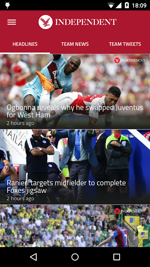 Independent Football Live- screenshot