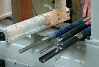 Photo: Mark uses only three tools -- a spindle roughing gouge, a bowl gouge, and a spindle gouge.