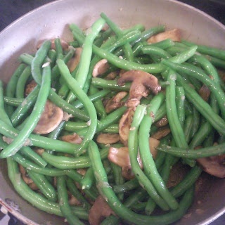 Green Bean and Mushroom Saute