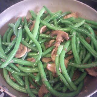 Green Bean and Mushroom Saute.