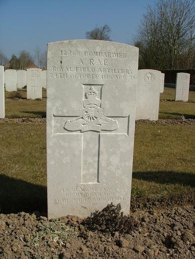 Archibald  Rae  DCM grave