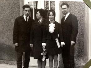 Photo: Gunter, Gertraude, Martina und Horst Effenberg. Mein Papa, meine Oma, meine Tante und mein Opa.