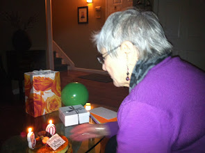 Photo: Mom blows out the candles