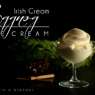 Irish Cream Eggnog Ice Cream (in a Blender)