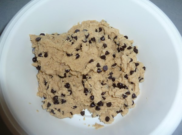4. Add chocolate chips to another bowl; mix well.