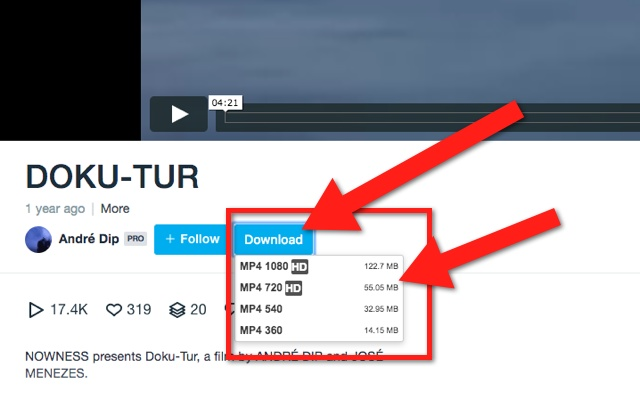 Vimeo video downloader chrome web store download videos from vimeo in just one click supports all available video qualities for vimeo 240p 380p 480p 720p 1080p reheart Gallery