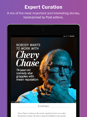 Washington Post Select screenshot for Android