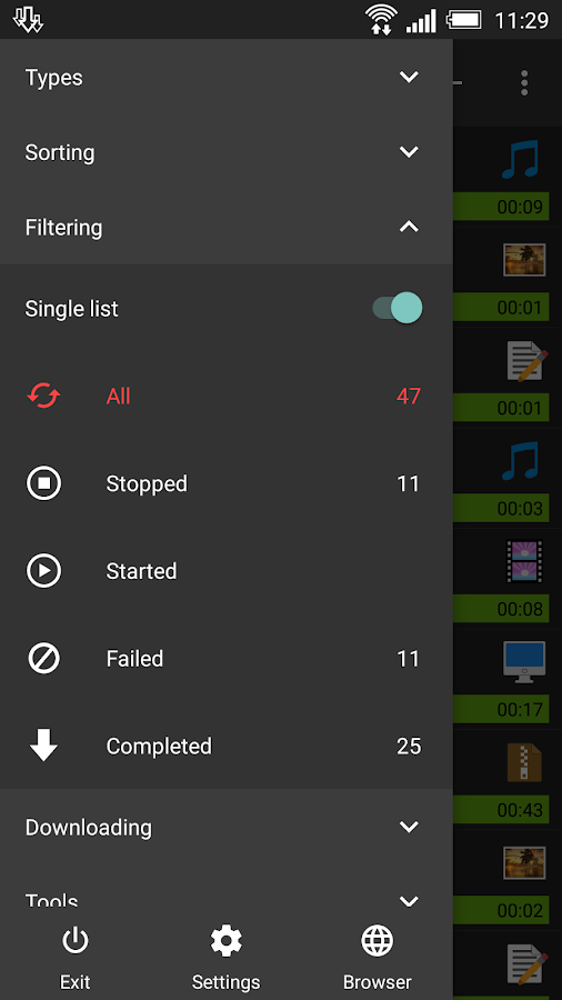 Screenshots of Advanced Download Manager for Android