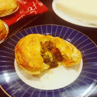 Curried Chicken and Leek Pie.