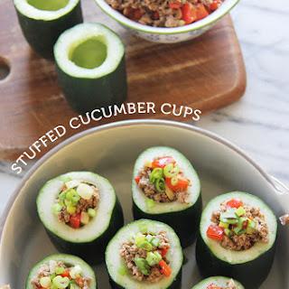 Stuffed Cucumber Cups.