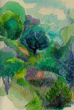Photo: 1999 John's Path. Ridgeway, WI. Watercolor.