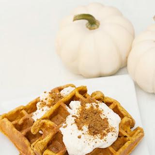 Whole Wheat Pumpkin Walnut Waffles