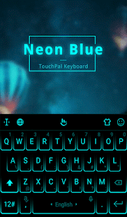 Download Neon Blue Keyboard Theme For PC Windows and Mac apk screenshot 4