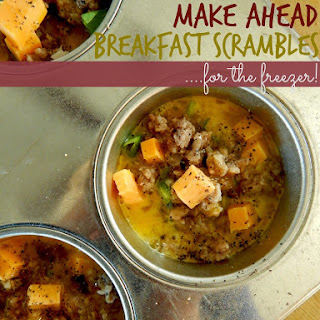 Make Ahead Breakfast Scrambles Recipe