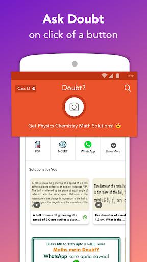 Free IIT JEE NEET Solutions NCERT CBSE Doubts App screenshots 1