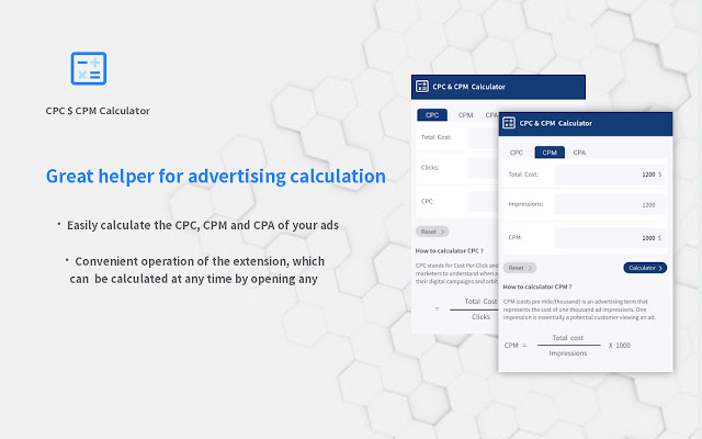 CPC & CPM  Calculator