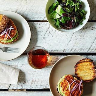 Salmon Burgers with Avocado Aioli Recipe