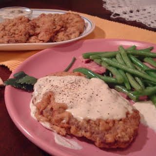 Country Fried Steak with White Gravy.