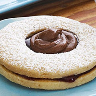 Chocolate Topped Linzer Cookies