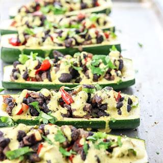 Vegan Stuffed Zucchini.