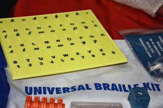 Photo: Alphabet Slate that teaches the Braille equivalent