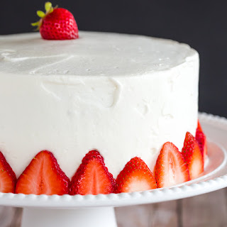 Strawberries & Cream Layered Poke Cake