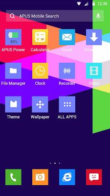 Color Lump-APUS Launcher theme - screenshot
