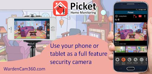 Smart Home Surveillance Picket - reuse old phones - Apps on