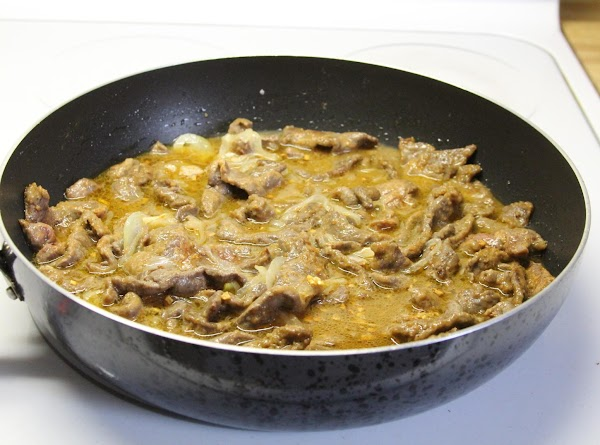 Stir to dissolve browned bits in skillet. Simmer, uncovered, 15-20 minutes, until meat is...