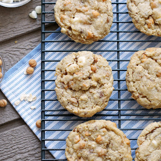 Caramel Toffee White Chocolate Oatmeal Cookies