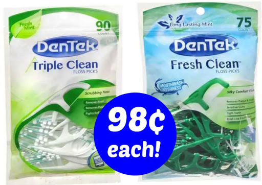 Dentek Floss Picks 98¢ Each!