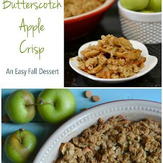 Butterscotch Apple Crisp - a simple fall dessert