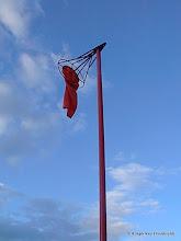 Photo: Slitt vindpølse på Eggemoen