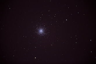 Photo: M13 Singe 120 Second exposure Celestron C8 with f/6.3 focal reducer Sharpness, contrast and levels adjusted in lightroom.