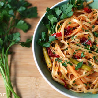 Linguine with Asparagus and Sun-Dried Tomatoes.