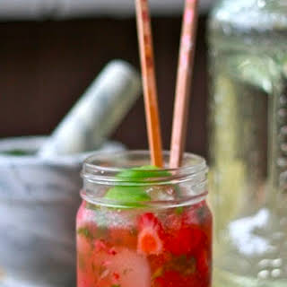 Strawberry Basil Martini.