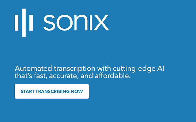 Sonix: Accurate, automated transcription