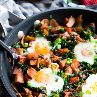 Sweet Potato Hash with Kale and Bacon {Paleo, Whole30} Recipe