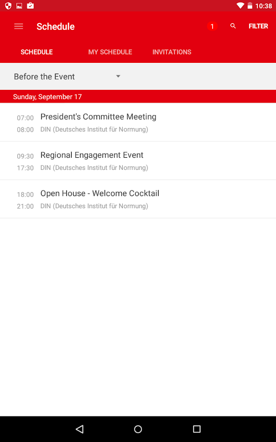 ISO Events- screenshot